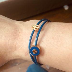 Tory Burch Double-Strand Gold Logo Bracelet